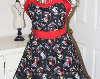 Sally Nightmare Before Christmas Apron (Sweetheart Neckline)