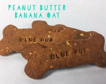 Peanut Butter Banana Oat Gourmet Dog Treat Bones