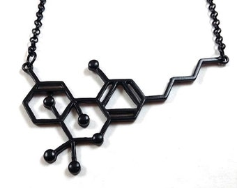 420 THC Molecule Necklace