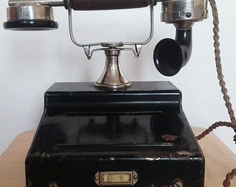 old 1925 antique telephone, antique telephone, vintage telephone, old wood telephone, old ericsson telephone