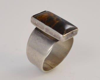 Sterling Silver 925 Designer Di Multi Colored Stone Ring Size 8.25(01080)