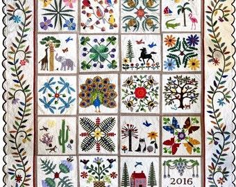 Nature's Bounty Full Quilt Pattern Set