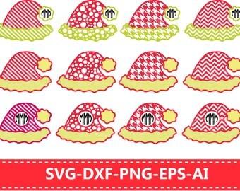 60%OFF, Christmas Santa Claus Hats SVG, Monogram Frames, Cut Files Svg,Dxf,Eps, Digital Cut File,Vector,Silhouette, Frames For Vinyl Cutters