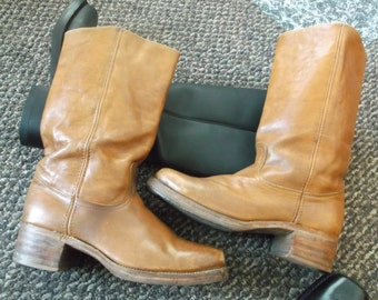 Vintage Frye Campus Boots Harness Motorcycle Boots Biker Boots