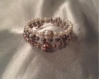 Pearl elegance memory bracelet