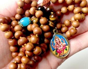 Ganesha mala | Protection & Security | JAPA Mala. Muladhara chakra | Yoga jewelry | Yoga jewelry