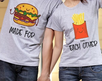 Made For Each Other Tshirt Set - FAST DISPATCH!Best Friends Tshirt Matching Couple Set Matching Best Friends Shirts 2 partners look BFF Gift