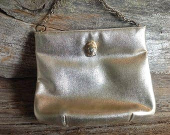 Vintage Ruth Saltz Gold Purse vintage/purse/1960/party/special occasion/wedding/bridal/gift