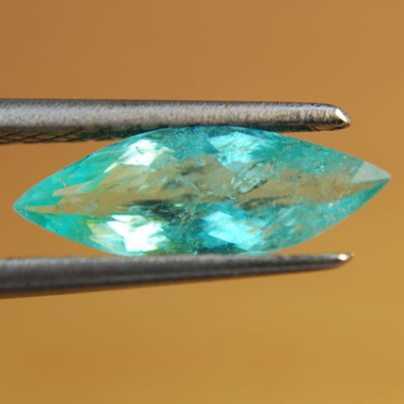 1.41 cts ELECTRIC BLUE PARAIBA - Copper Bearing Gem - Mozambique - Marquise Shape - Free Shipping