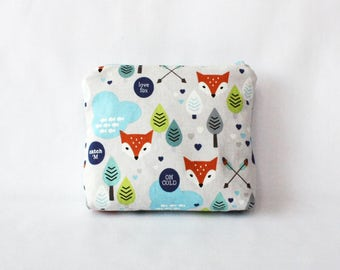 Fox cloud pouch-S, travel pouch, charge pouch, small pouch, cosmetic bag, makeup bag,