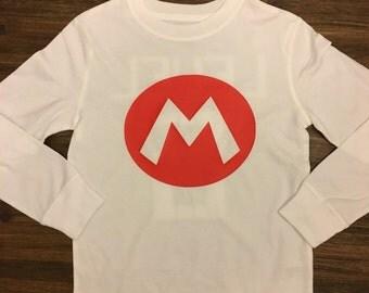 Mario Birthday, Level Six, Birthday Boy, Mario Birthday Shirt