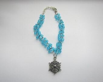 curb bracelt bead-snowflake