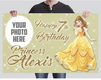 BANNER - Belle Banner - Party Banner - Birthday Banner