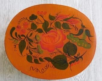 Oval Folk Art Box