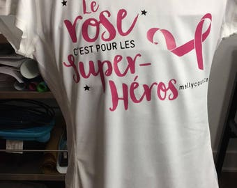 Pink is for superheroes - for the Quebec breast cancer Foundation