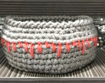 Crochet basket, jewellery organizer, bathroom storage, small basket. Free shipping in the UK