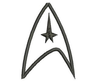6 sizes - Star Trek Embroidery Design, Star Trek Applique Design, Machine Embroidery, Captain Kirk Embroidery Design, Instant Download