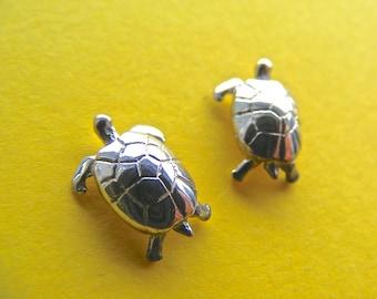 Tortoise/Turtle Silver Stud  Earrings
