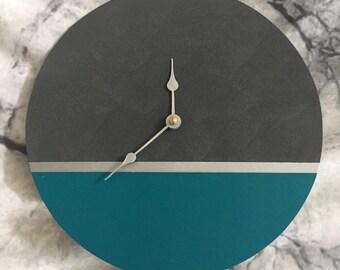 large wall clock wall clock wooden clock handmade wall clock clock