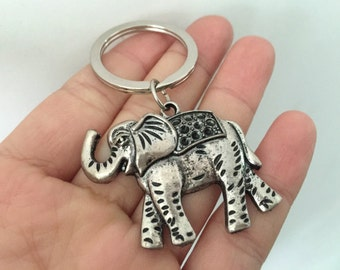 elephant keychain, elephant gifts key ring
