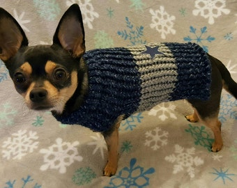 Dallas Cowboys color Dog Sweater