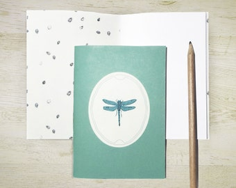 Dragonfly Pocket Notebook · Handbound with blank pages · Illustrated with miniature drawings