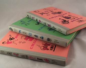 Set of 3 Vintage Books - Best in Children's Books 1958, 59 and 60 (Classic stories like Paul Bunyen, Babar, Mayflower, and Little Red Hen)