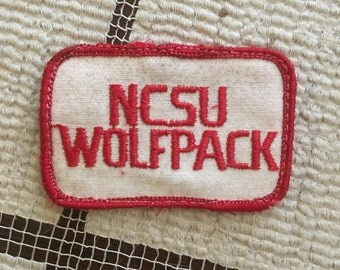 vintage ncsu wolfpack patch!