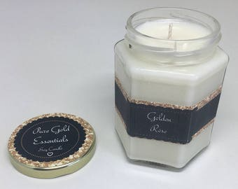 Pure Soy Scented Candle (12oz Hex Jar)
