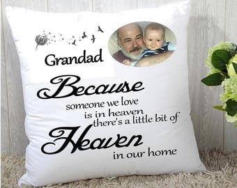 "Personalised custom remembrance Memory cushion cover 16""x16"" (40cmx40cm) photo gift name"