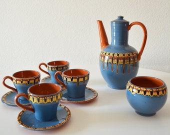 Vintage ceramic tea & coffee crockery from Bulgaria