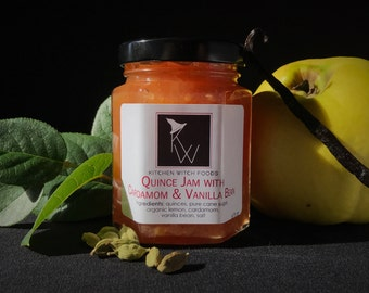 Gourmet Jams and Jellys; Quince Jam with Cardamom & Vanilla Bean; Hand Crafted Jam, Best Made Jam, Fresh Made Jam, Quince Preserves
