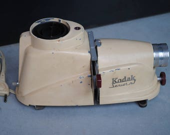 Vintage antique projector has Kodak slide