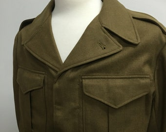 Vintage 1950s Army Green Men's Military Jacket
