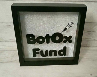 Money box frame, Botox money box, Botox savings fund, Novelty gift, funny present