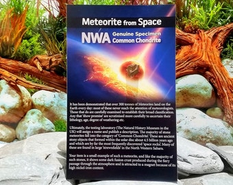 Meteorite on a Story Card [RS6009]