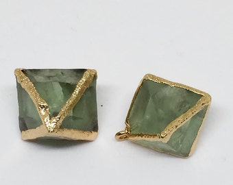 Green Flourite Prism Pendant