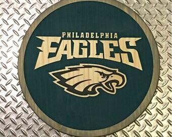 Philadelphia Eagles Carved Sign