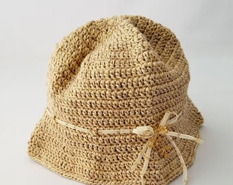 Kids Hat made from Jute by JiYoung Noh