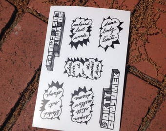 So Many Lost Causes Sticker Sheet