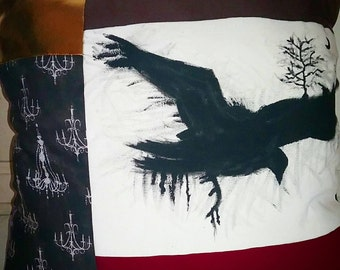Crow and Skull Pillows