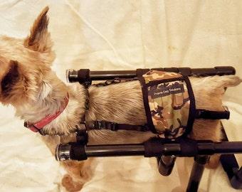 Black or White PVC dog wheel chair, Canine mobility cart, Canine wheel chair, Dog wheel chair, dog wheelchair