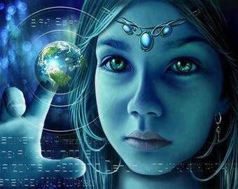 Aqua Blue Slag Glass