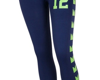 Seattle Seahawks 12TH  FAN Womens Leggings
