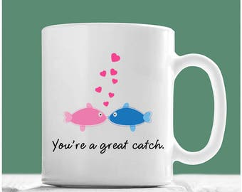 Fish mug etsy for Gifts for fishing lovers