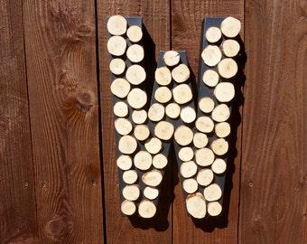 Custom Papermache Wood Slice Letter