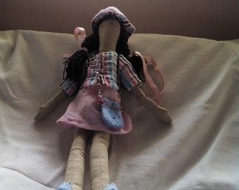 textile doll Girl