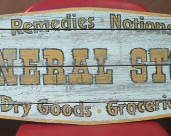 General Store Old West sign