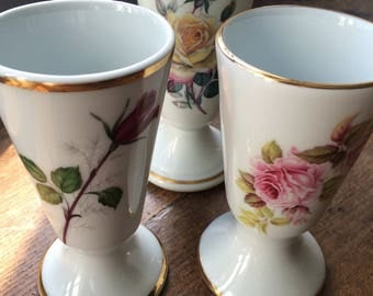 Vintage french coffee cups x 3!
