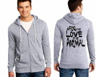Men's Gray Zip Up Hoodie